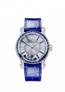Chopard Happy Sport Mother of Pearl Dial with Diamonds and Sapphires Ladies Watch
