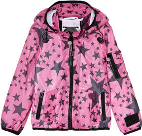 Diadora Pink with Navy Star Lightweight Hooded Jacket with Inner Braces