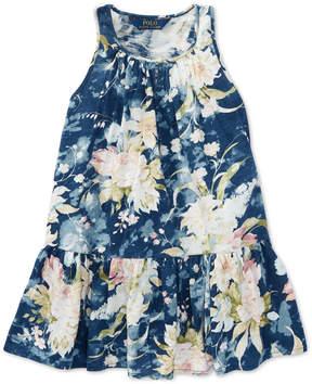 Polo Ralph Lauren Floral Cotton Jersey Dress, Toddler Girls
