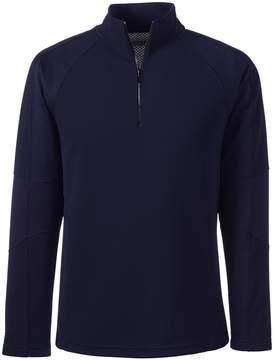 Lands' End Lands'end Men's Tailored Long Sleeve Textured Active Solid Half Zip