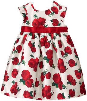 Gymboree White & Red Rose Sleeveless Dress - Infant