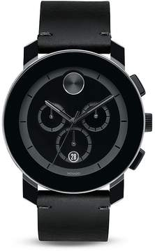 Movado BOLD Large Black TR90 and Stainless Steel Chronograph, 42mm