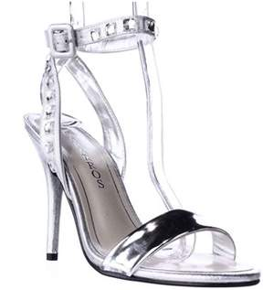 Caparros Cassidy Jeweled Ankle Strap Dres Sandals, Silver Metallic.