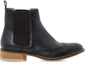 Dune Quentin leather brogue chelsea boots