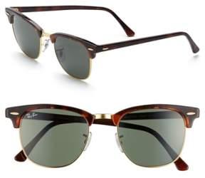 Ray-Ban Men's 'Classic Clubmaster' 51Mm Sunglasses - Dark Tortoise/ Green