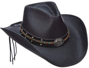 Scala Women's LT203 Toyo Pinch Cowboy Hat with Turquoise Stone