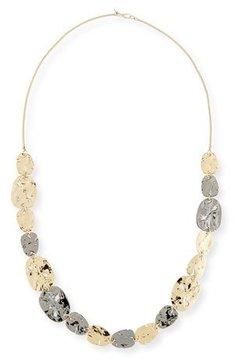 Alexis Bittar Rocky Medallion Station Necklace