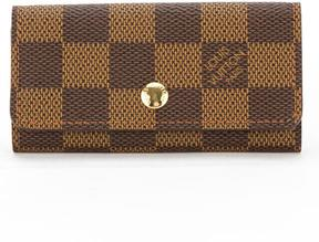 Louis Vuitton Damier Ebene Canvas Multicles 4-Key Case - BROWN - STYLE