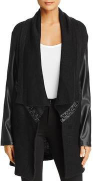 Bagatelle Draped Lace Up Sweater Jacket - 100% Exclusive