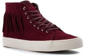 Vans SK8 Hi Moc Women US 8.5 Burgundy Sneakers