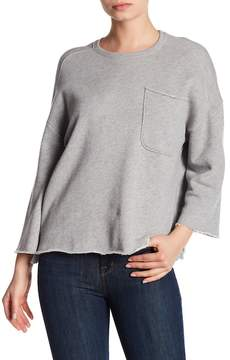 ATM Anthony Thomas Melillo Oversized Pocket Raw Trim Sweater