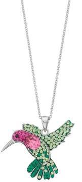 Brilliance+ Brilliance Silver Plated Hummingbird Pendant with Swarovski Crystals