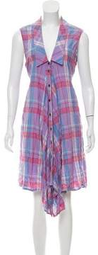 Creatures of Comfort Plaid Button-Up Dress