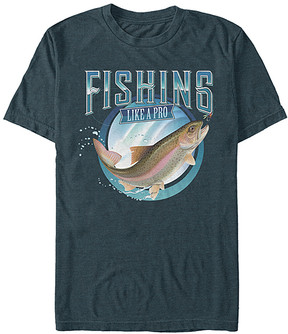 Fifth Sun Heather Slate 'Fishing Like a Pro' Tee - Men