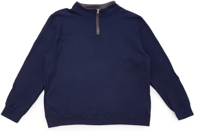 Fruit of the Loom Navy & Charcoal Quarter-Zip Pullover