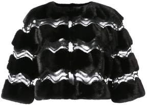 Carolina Herrera cut-out mesh cape