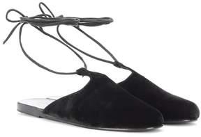 Ancient Greek Sandals Epithymia velvet sandals