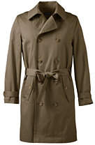 Lands' End Men's Tall Trench Coat-Khaki