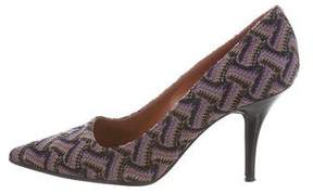 Missoni Patterned Pointed-Toe Pumps