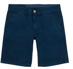 Sun 68 Men's B18105navy Blue Cotton Shorts.