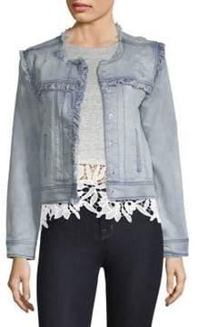 Generation Love Evie Ruffled Distressed Jacket