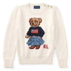 Polo Ralph Lauren Bear Cotton Sweater Essex Cream 6