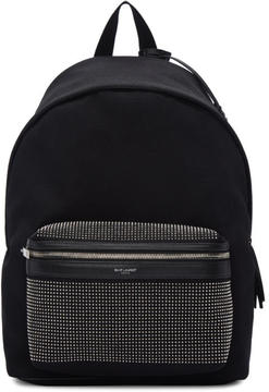 Saint Laurent Black Microstud City Backpack