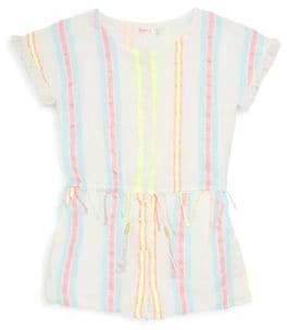 Billieblush Toddler's, Little Girl's& Girl's Stripe Fringe Romper