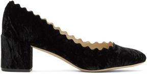 Chloé Black Velvet Lauren Heels