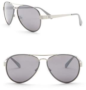 GUESS 60mm Aviator Sunglasses