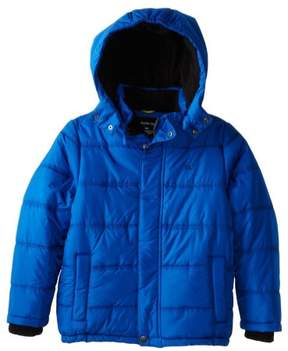 Calvin Klein Jeans Little Boys Blue Puffer Jacket Winter Ski Coat Large