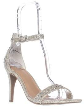Material Girl Mg35 Blaire Ankle Strap Dress Sandals, Silver.