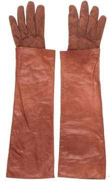 Brunello Cucinelli Leather Sleeve Gloves w/ Tags