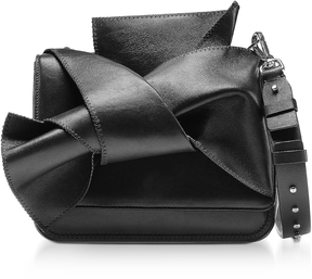 N°21 Small Black Leather Bow Shoulder Bag
