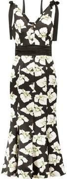 Cinq à Sept Blakely Floral-Print Silk Midi Dress