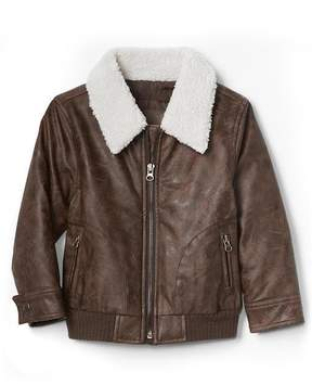 Gap Sherpa faux leather flight jacket