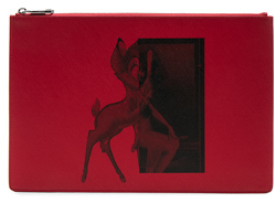 Givenchy Large Bambi Pouch in Red.