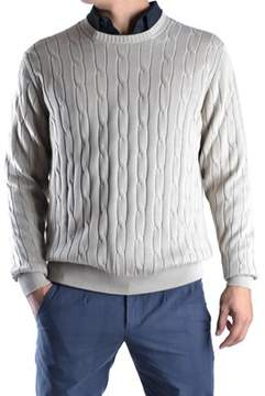 Dalmine Men's Beige Cotton Sweater.