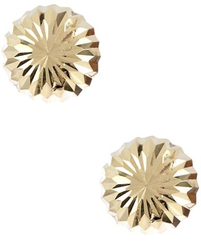 Candela 14K Yellow Gold Diamond Cut Dome Earrings
