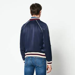 Sandro Plain floaty varsity-style bomber jacket