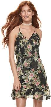 Almost Famous Juniors' Ruffled Floral Dress