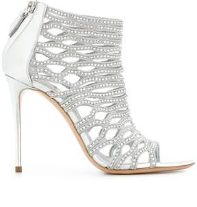 Casadei embellished cage sandals