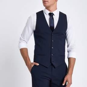 River Island Mens Dark blue suit vest