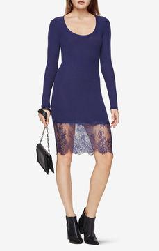 BCBGMAXAZRIA Livi Lace-Hem Dress