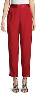 Fleur Du Mal Women's High-Rise Silk Pants