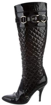 Burberry Patent Leather Knee-High Boots