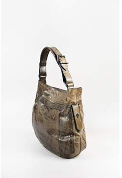 Givenchy Pre-owned Dark Taupe Distressed Leather moyen Shoulder Bag.