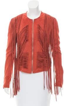 Blank NYC Long Sleeve Fringe-Accented Jacket