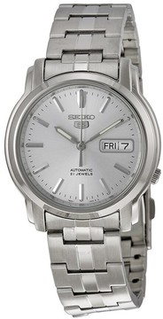 Seiko 5 Automatic Silver Dial Stainless Steel Men's Watch