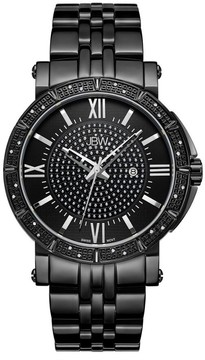 JBW Vault Black Ion-Plated Diamond Men's Watch